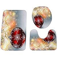 XGPT La Cubierta del Asiento De Tocador De Navidad Fijó La Manera, Decoración De La Navidad De 3 Picece De La Cubierta del Asiento,A