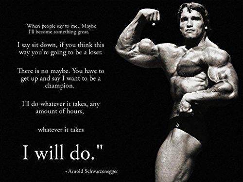 Arnold Schwarzenegger Inspiration Bodybuilding poster 17 inch x 13 inch by bribase shop