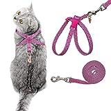 PUPTECK Puptech Katzengeschirr mit Leine, ausbruchsicher, 8 Stile, verstellbar, weich und leicht, für Kätzchen, Welpen, grün
