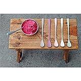 Buntes Eislöffelset 'Sundaes Spoon' - aus Bambusfasern und Mais, Farbe:Dawn