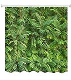 A.Monamour Tropische Grüne Pflanzen Blätter Wald Garten Landschaft Sommer Thema Bild Drucken Wasserdicht Umweltfreundliche Stoff Polyester Duschvorhang Für Bad 180X200 cm / 72