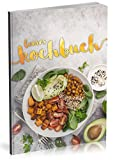Dékokind Leeres Kochbuch: Für über 80 Lieblingsrezepte || Ca. A5 Softcover || Rezeptbuch zum Selbstgestalten / Selberschreiben mit Inhaltsverzeichnis || Motiv: Avocado Salat