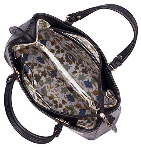 Kukubird Ciara Stampato Con Mirroring Rose Design Tote Bag Con Sacchetto Raccoglipolvere Su Black