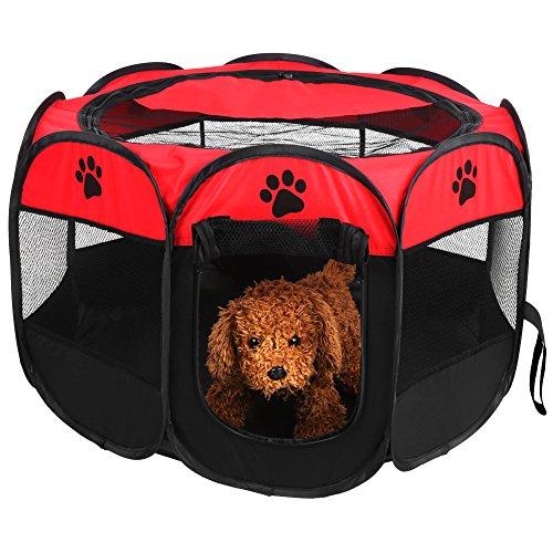 Zerone Parque, PET Fences Pet Portable faltzäune Cachorros Vallas Oxford Fences 8paneles de malla Adecuado para perros, gatos y animales color opcional