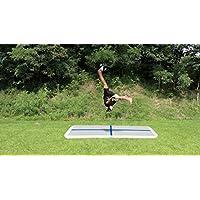 Garybank Air Track Airtrack Colchoneta Inflable de Gimnasia Air Floor Cojín de Taekwondo Gimnasia Tumbling Mat Pista de Aire Inflable Tumbling Mat para Uso Doméstico, Picnic, Ejercicio(1x3x0.1M)