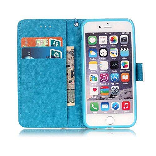 Owbb plume colorée Housse en PU cuir de protection pour iPhone 6 / 6S (4.7 pouces) étui coque de téléphone Color 03