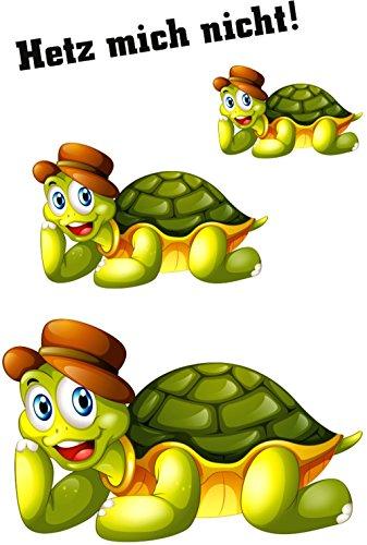 (carstyling XXL Aufkleber Schildkröten Hetz mich nicht! 3 Stück ~ schneller Versand innerhalb 24 Stunden ~)