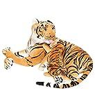 Deals India Mother Baby Brown Tiger - 42 cm
