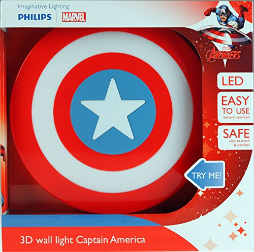 Marvel Captain America Shield Kinder 3D Deco LED Light Up Wand Night Light