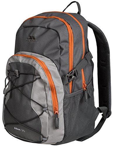 Trespass Albus Grey Water Resistant Durable Sports Outdoors Cycling Backpack - Flint, 30 Litre