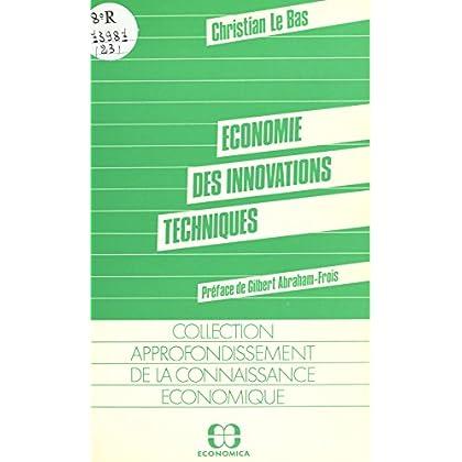 Économie des innovations techniques (Collection 'Approfondissement de la connaissance économique')