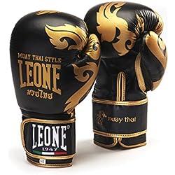 Leone 1947 - Guantes de Muay Thai, Unisex Adulto, Muay Thai, Negro