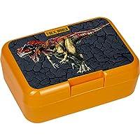 Spiegelburg 14611 Sandwich Lunch Box Children Orange T-Rex World Dinosaur