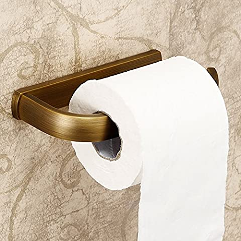 Weare Home Retro Bathroom Accessories Solid Brass Antique Brass Finished Toilet Roller Paper Holder Lavatory Accessories Wall maounted
