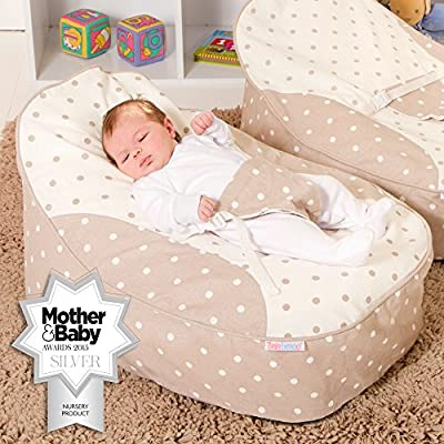 Bambeano® Baby Bean Bags Support Chair - with FREE 'My 1st Bean Bag' Cover - Luxury Cuddle Soft Cotton