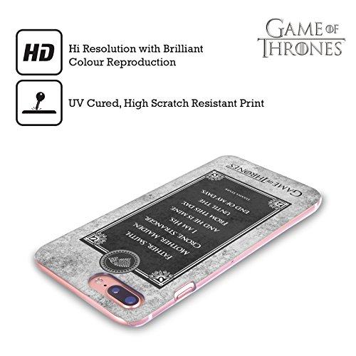 Ufficiale HBO Game Of Thrones Arya Citazioni Aghi Grafiche Cover Retro Rigida per Apple iPhone 7 Plus / 8 Plus Lyanna Voti