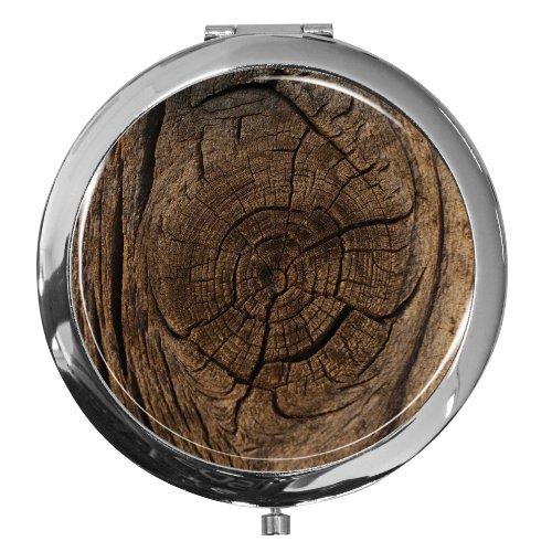 Miroir de poche / Tronc d'arbre / Double agrandissement