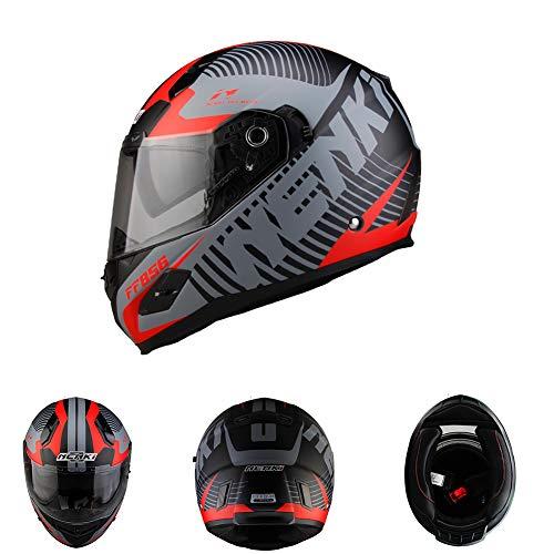 Goolife Nenki Completo Casco Moto Casco Racing Con Materiale FRP È Più Sicuro Per Soddisfare Gli Stati Uniti Dot Standard,M