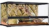 Exo Terra Terrario in Vetro 90X45X45 Cm Inclusa Parete Posteriore
