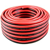 50 AUDIOPIPE 10 GA GAUGE RED BLACK ZIP WIRE SPEAKER CABLE COPPER CLAD CAR AUDIO STEREO 10-50RB