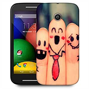 Snoogg Beautiful Finger Painting Designer Protective Phone Back Case Cover For Motorola E / Moto E