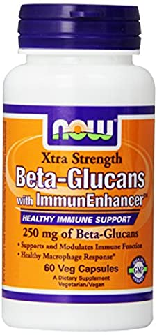 Now Foods Beta Glucans with ImmunEnhancer, 60 vcaps