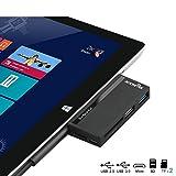 USB 3.0 HUB, Rocketek USB 3.0 Speicherkartenleser Adapter mit SD / Micro SD Steckplätze für Microsoft Surface Pro 4 und Pro 3 (12,3