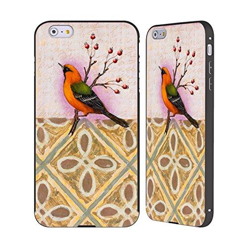 Ufficiale Rachel Paxton Rigogolo Uccelli Nero Cover Contorno con Bumper in Alluminio per Apple iPhone 5 / 5s / SE Fringuello
