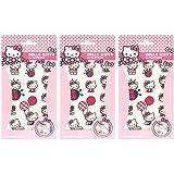 3 Hello Kitty Tattoo-Bögen mit Abziehtattoos für Kinder und Jugendliche (3x Bögen)