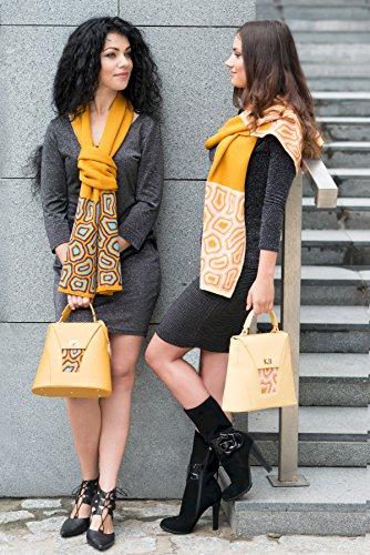 TATI Boduch sacchetto del progettista per le donne, il modello: AGATE (Giallo) Giallo Blu
