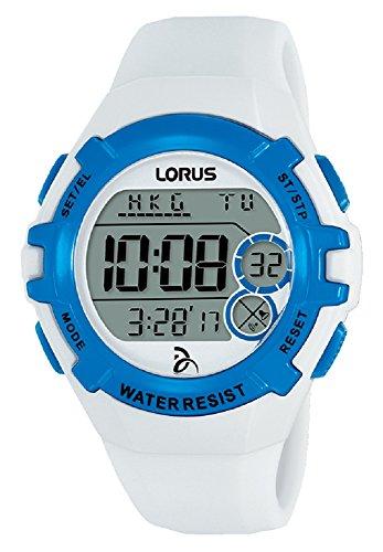 Lorus Unisex-Adult Digital Watch with Silicone Strap R2393LX9
