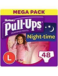 Huggies Pull-Ups Night Time Potty Training Pants for Girls, Large, 48 Pants
