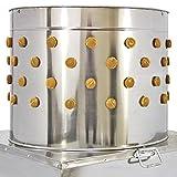 KuKoo von Monster Chef 63cm x 90cm x 63cm Hühnchenrupfmaschine Geflügelrupfmaschine Nassrupfmaschine Rupfmaschine aus Edelstahl mit 114 Rupffingern