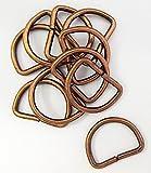 Halbringe/D-Ringe alt kupfer 20 mm 10er Set