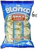 6x Amica Chips La Blanca Chips Patatine Kartoffelchips weiß 180g Kartoffel