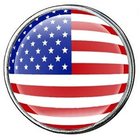 Click-Button, Chunk, Druckknopf, Durchmesser 18 mm – Flagge der USA