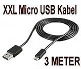 Energmix® XXL- Ladekabel extra Lang USB Kabel MICRO USB für alle Sony Xperia Modelle Aufladekabel @Energmix®