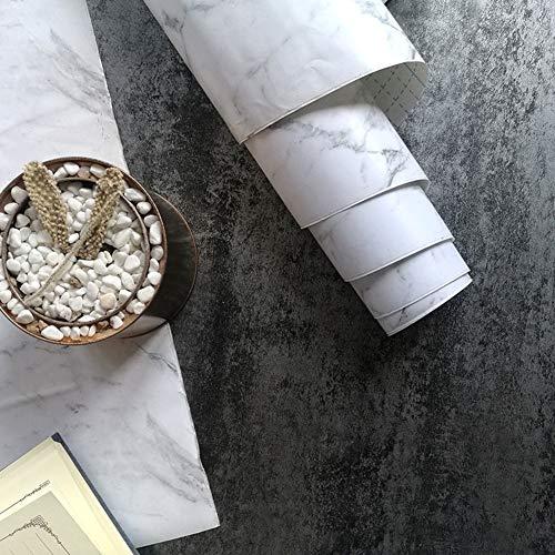 TT&CC Kontakt Papier marmor,Esszimmer Wohnzimmer gefrostet küchenarbeitsplatten selbst klebende Öko-Vinyl Granit marmor dekorpapier-D 45x1000cm(18x394inch) 45x1000cm(18x394inch)