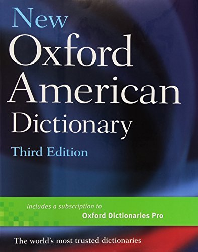 New Oxford American Dictionary, Third Edition (October 28, 2010) Hardcover