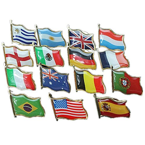 Football World Cup National Flag Badge Country Badge -