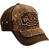 Buck Logo Cap Camo & Wildleder braun