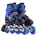 Toy Arena Adjustable Size Inline Skates with LED Flash Light On Wheels
