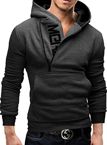 Merish-Felpa-con-Cappuccio-Uomo-Slim-Fit-Sweatshirt-08-Antracite-S
