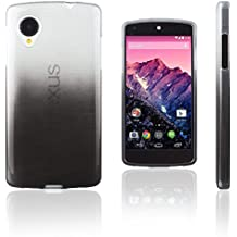 Xcessor Transition de Color Funda Carcasa Para LG Nexus 5. Flexible TPU Gel Con Gradient Hilo De Seda Textura. Transparente / Gris