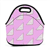 Borsa portatile multifunzionale del tessuto del pane del fatato, borsa della scatola di pranzo per l'ufficio di lavoro di viaggio della scuola