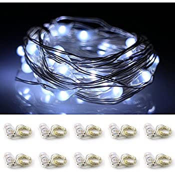 Battery Operated String Lights Ac Moore : 20 Micro Starry LED String Lights Battery Operated on 3.3 Feet Silver Wire, Warm White, 10 Pack ...