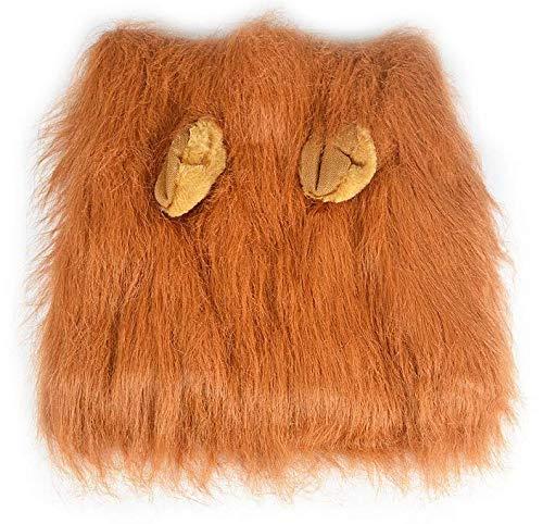 Generic Löwenmähne Perücke für Hund und Katze Kostüm mit Ohren verstellbar bequem Fancy Löwe Haar Hund Kleidung Kleid für Halloween Weihnachten Osterfest Party - Blonde Katze Kostüm