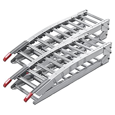 2x folding loading ramp scooter ramp ATV Quad portable steel 84x12 inches 1400lbs (212cm 630kg)