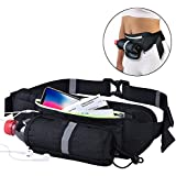 CHETONE Running Belt Runner Waist Pack Fanny Pack Ultra Light Bounce Free Waist Pouch Fitness Outdoor Sports Pockets Adjustable IPhone X 8 7 6 Android Mobile Belt For Men, Women During Exercise