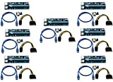 longxi (7unidades) de corriente de 6pines PCI-E PCI Express Riser-ver 006C-1x A...
